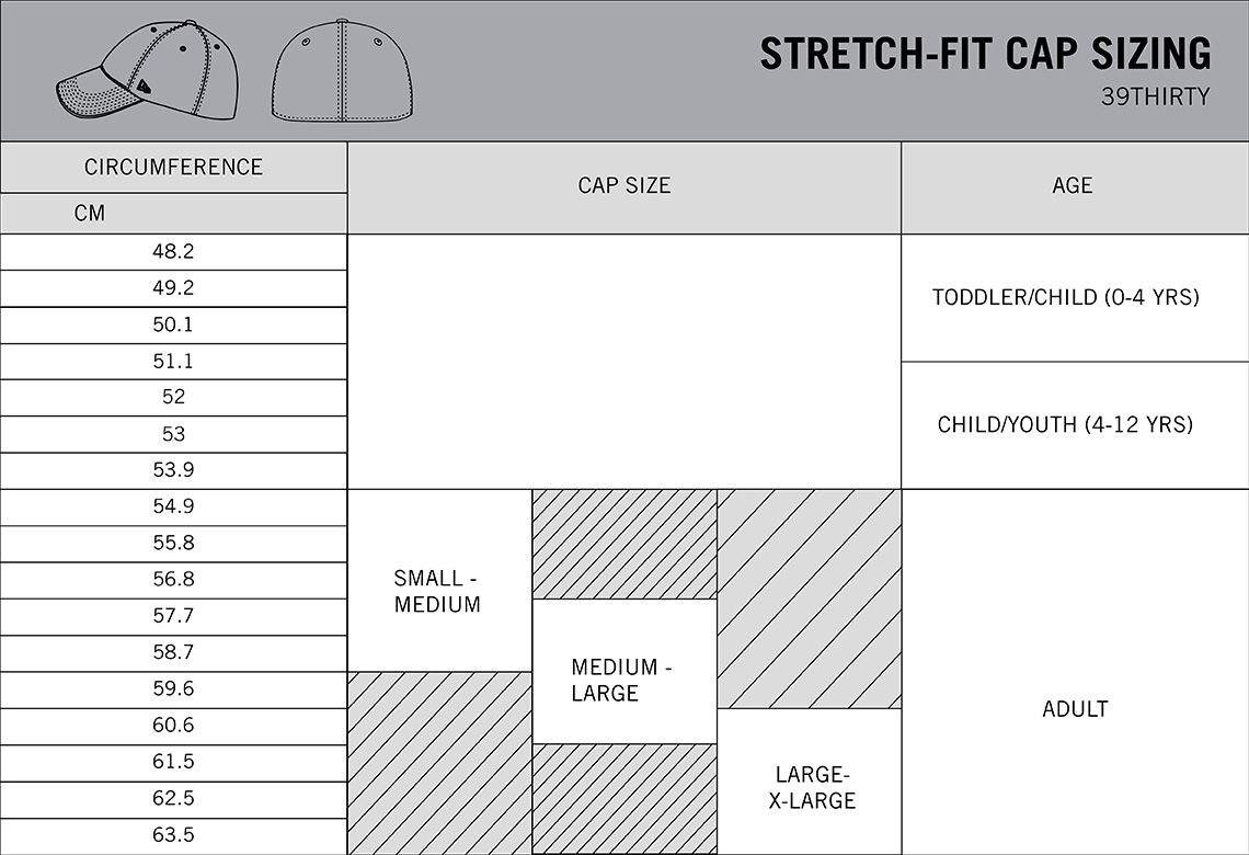 To Figure Out Your Own Cap Size Measure With A Flexible Tape Directly Where The Sweatband Will Rest Convert Measurement Chart Below