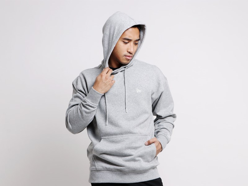 New Era Flag Mini Logo Gray Essential Hoodie