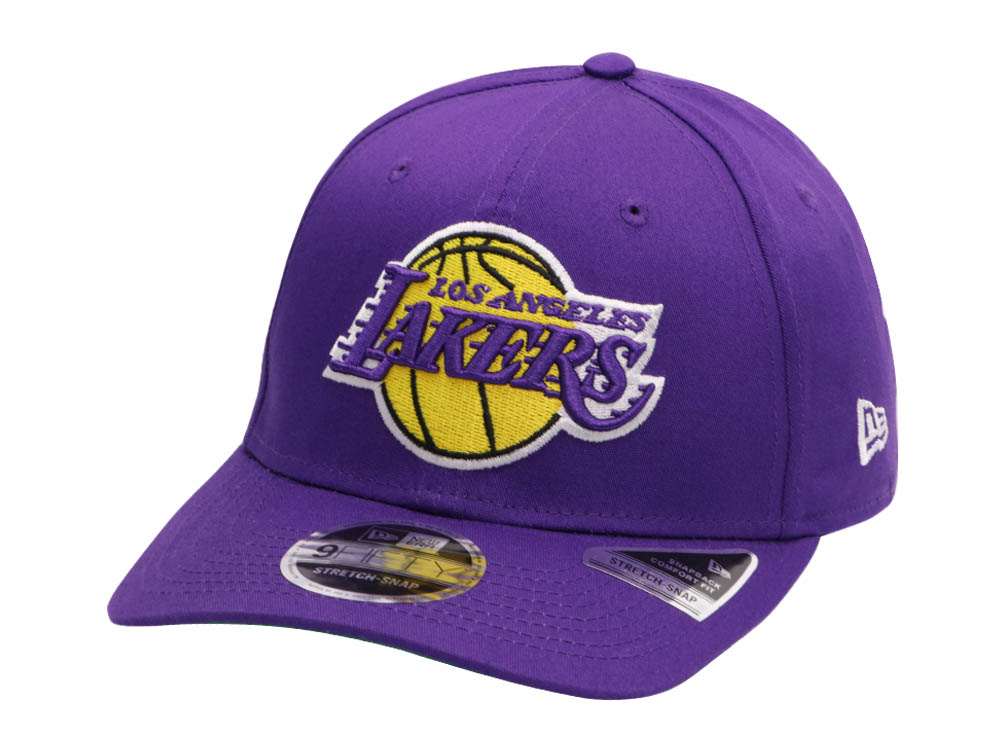3bb3d87dd Los Angeles Lakers NBA Team Stretch Snap Purple 9FIFTY Cap | New Era ...
