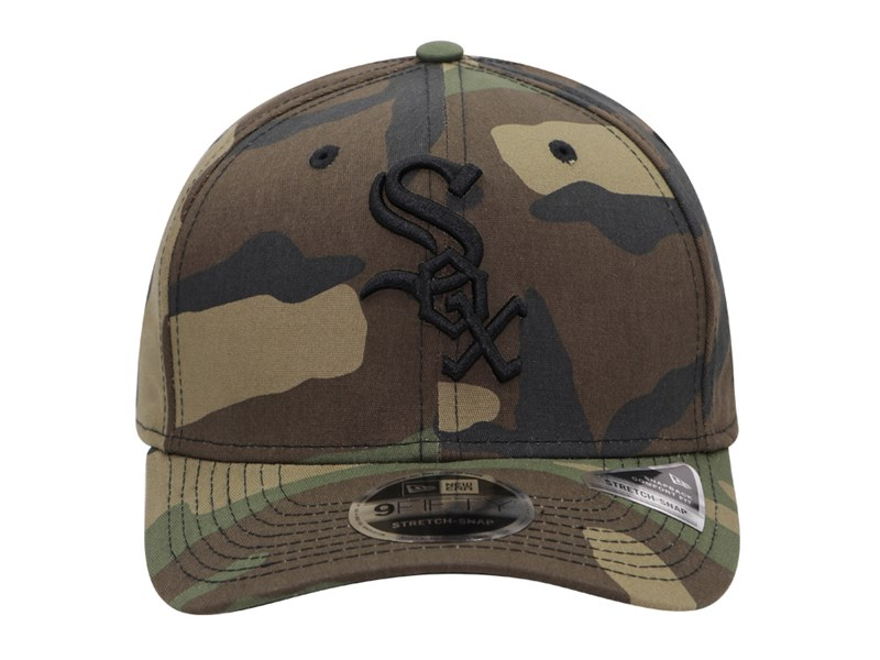 Chicago White Sox MLB Team Stretch Snap Woodland Camo 9FIFTY Cap