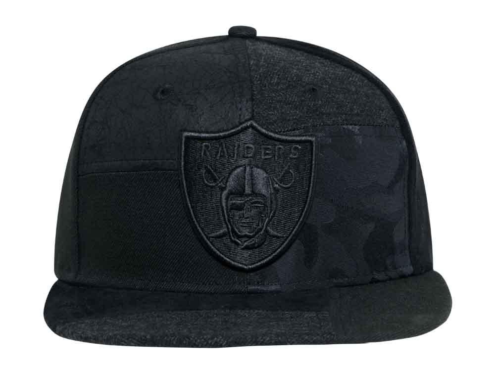 025151832a9b0a Oakland Raiders NFL Premium Patched Black 9FIFTY Cap | New Era Cap PH