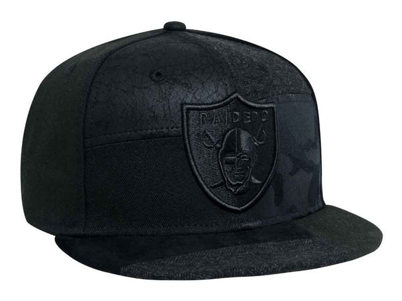 Oakland Raiders NFL Premium Patched Black 9FIFTY Cap