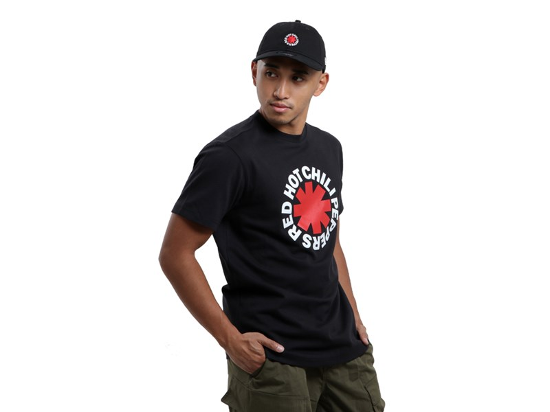 Red Hot Chilli Peppers Music Logo Black Short Sleeve Shirt