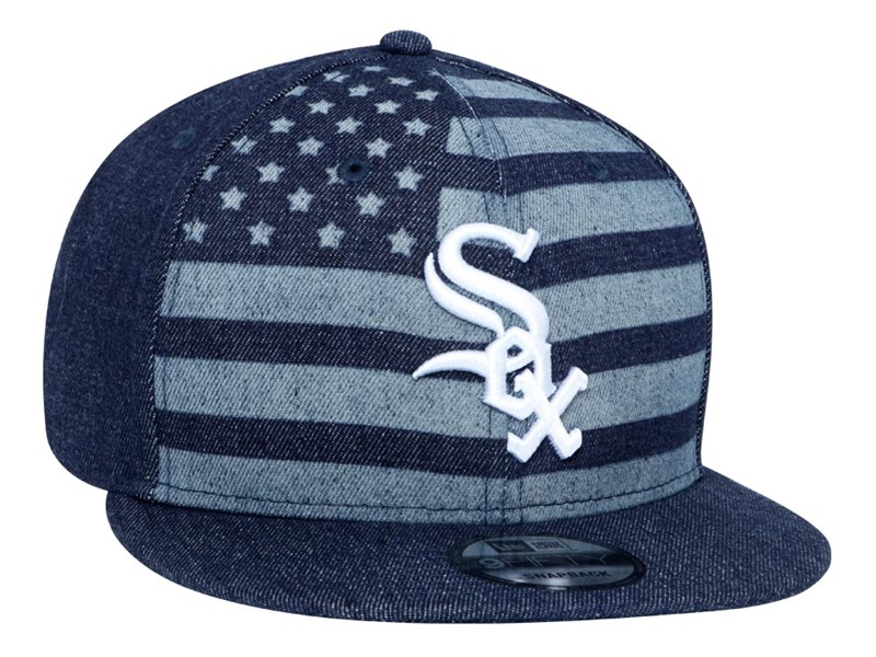 Chicago White Sox MLB Denim Flag Open Blue 9FIFTY Cap