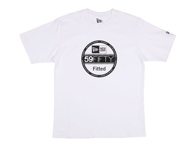 New Era Visor Sticker White Basic Tee