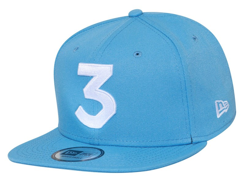 Chance The Rapper Music White Logo Sky Blue 9FIFTY High Crown Cap