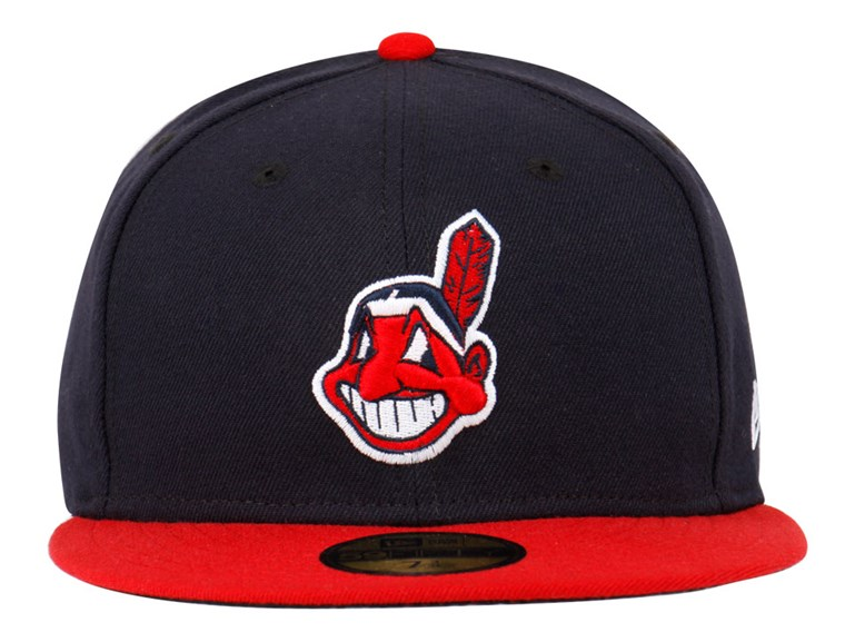Cleveland Indians MLB AC Navy Blue Red 59FIFTY Cap