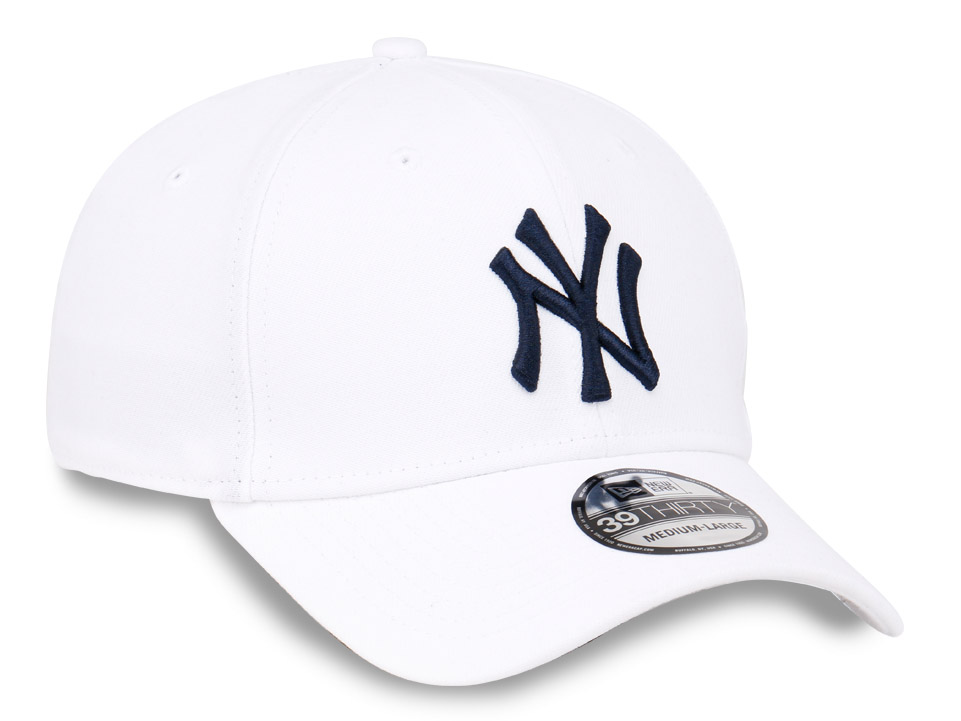 New York Yankees MLB White on White 39Thirty Cap (ESSENTIAL)  a61118d9b16