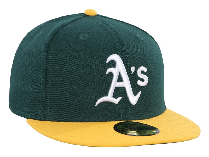 Oakland Athletics MLB AC Perf  Yellow Green 59FIFTY Cap (ESSENTIAL)
