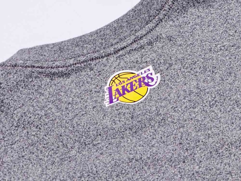 Los Angeles Lakers NBA Script Short Sleeve Heather Charcoal Shirt