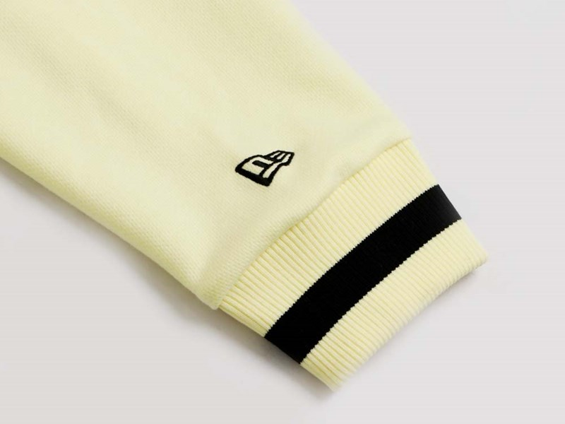 New Era Mini Flag Essential Lemon Yellow Zip Up Front Hoodie