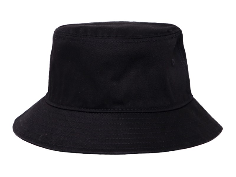 Manila New Era Landscape Word Mark Black Bucket Cap