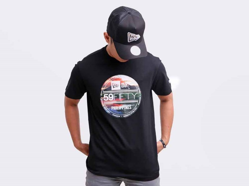 Mayon New Era Landscape Brass Logo Black Short Sleeves Shirt