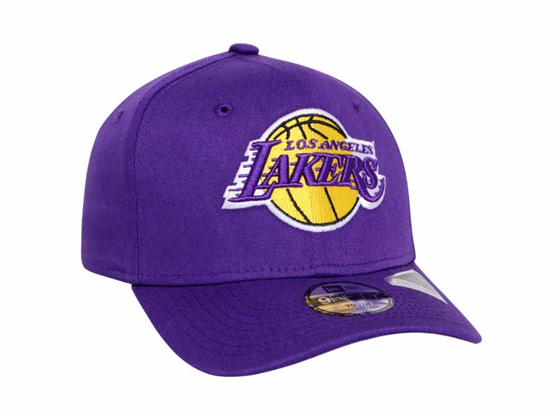 Los Angeles Lakers NBA Team Stretch Snap Purple 9FIFTY Youth Kids Cap