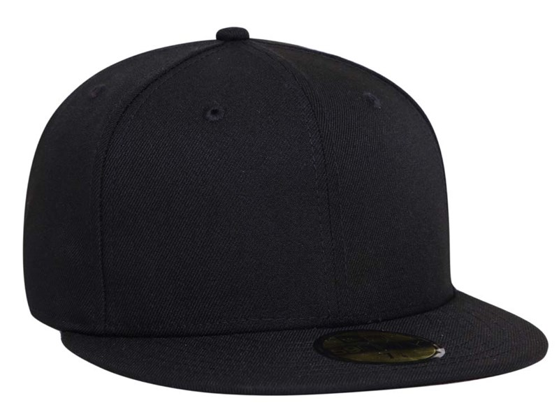 New Era 100th Flag Centennial Logo Side All Black 59FIFTY Cap