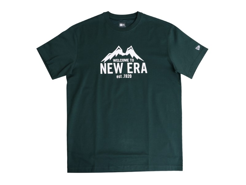 01020604New Era Mountain Outdoor Green Short Sleeves Shirt