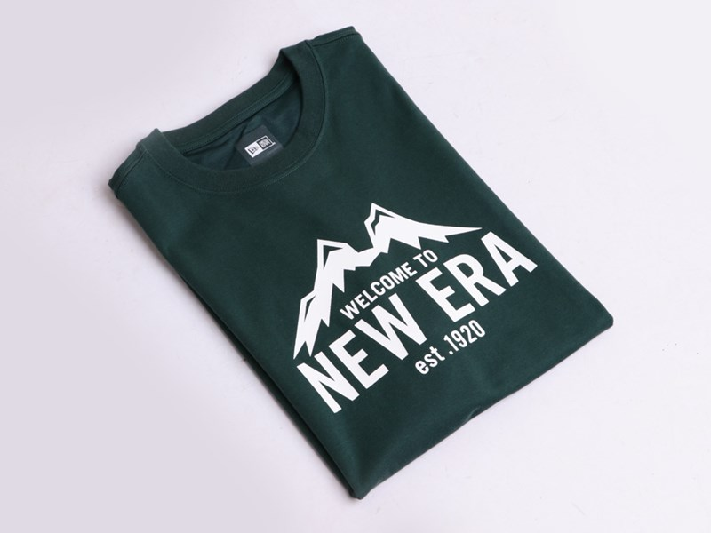 New Era Mountain Outdoor Green Short Sleeves Shirt