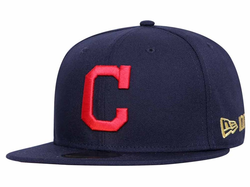 Cleveland Indians MLB 2020 100th x Centennial Collection Navy 59FIFTY Cap (Online Exclusive)
