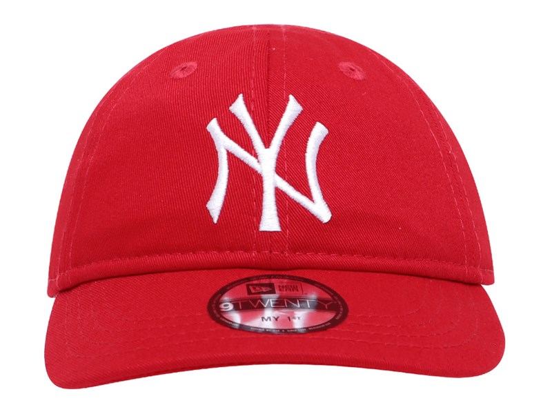 New York Yankees MLB My 1st Elastic Strap Logo Scarlet 9TWENTY Infant Kids Cap