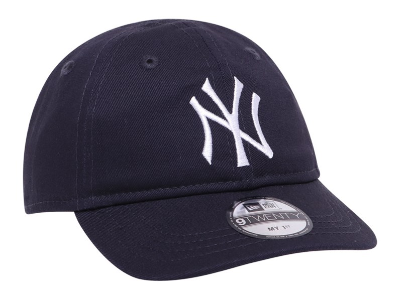New York Yankees MLB My 1st Elastic Strap Logo Navy 9TWENTY Infant Kids Cap