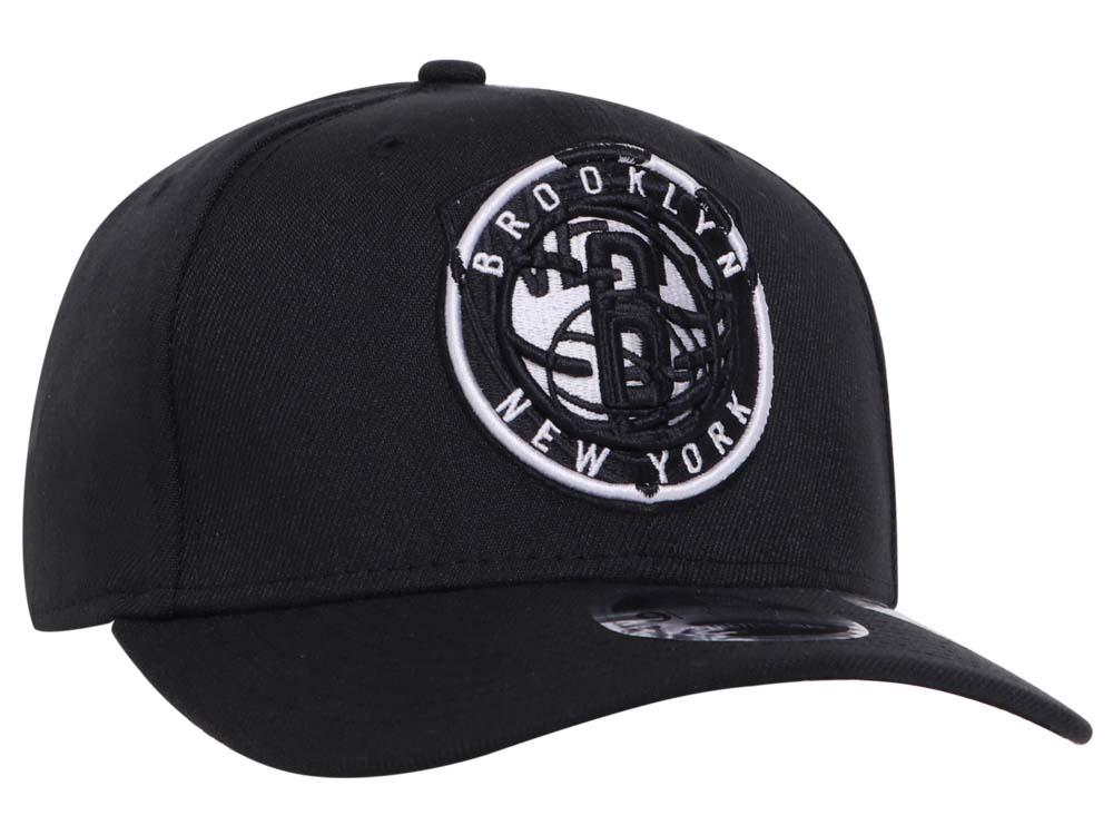 Brooklyn Nets NBA Logo Pair Black 9FIFTY Stretch Snap Cap ...