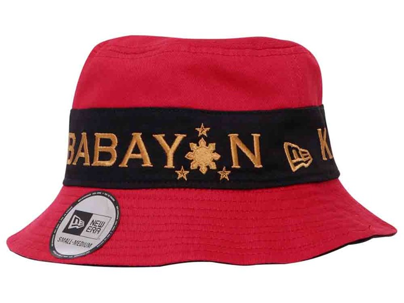 Francis M Kababayan Filipinize the Whole World Black Red Reversible Bucket Cap