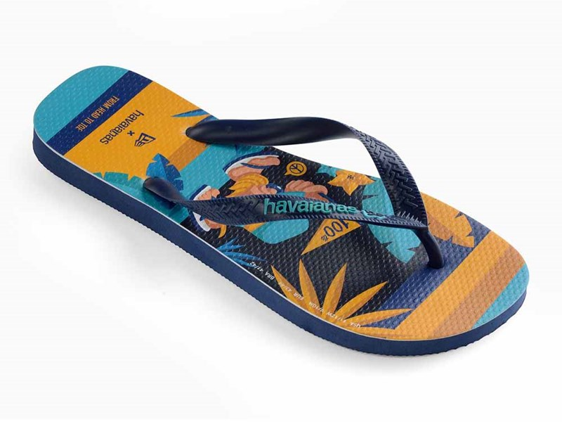 New Era Havaianas Step Into Joy Navy Blue Flip-Flop Sandals