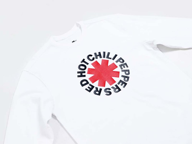 Red Hot Chili Peppers Music Logo White Long Sleeve Sweatshirt