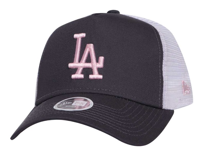 Los Angeles Dodgers MLB League Essential Trucker Dark Gray 9FORTY A-Frame Womens Cap