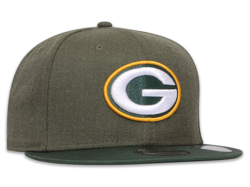 Green Bay Packers NFL Heather Crown Dark Green 9FIFTY Cap