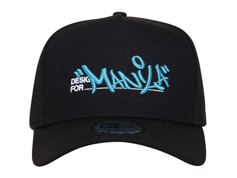 New Era Manila World Wide Graffiti Black 9FORTY K-Frame Cap