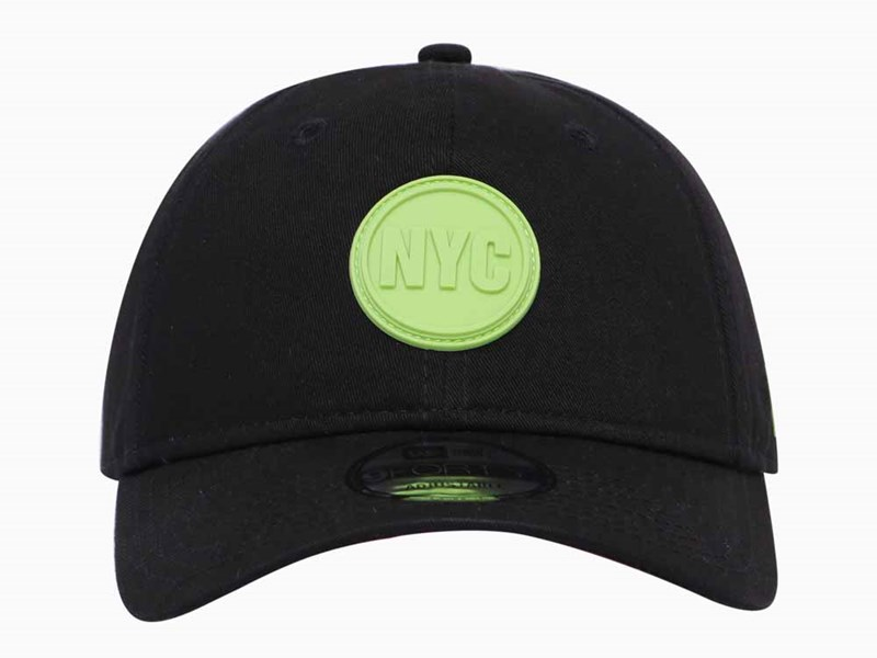 New Era NYC Circle Rubber Black 9FORTY Unstructured Cap