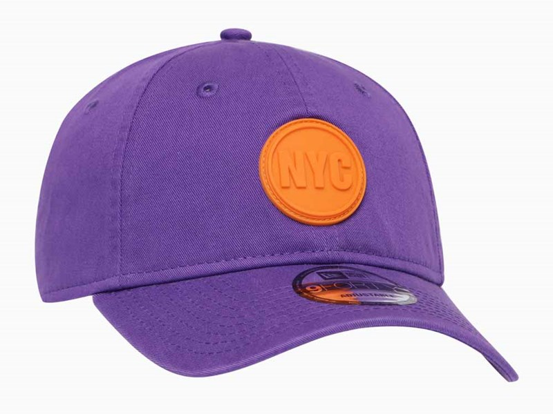 New Era NYC Circle Rubber Varsity Purple 9FORTY Unstructured Cap