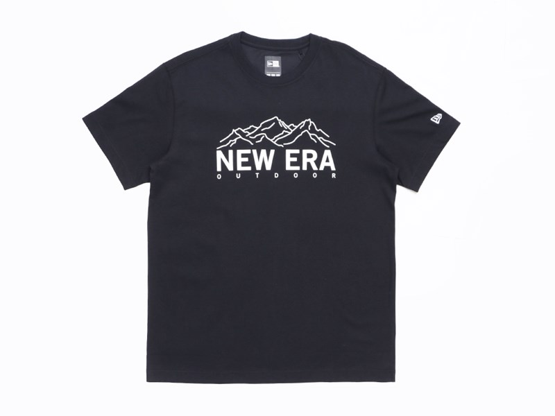 New Era Mountains Outdoor Black Short Sleeves Shirt