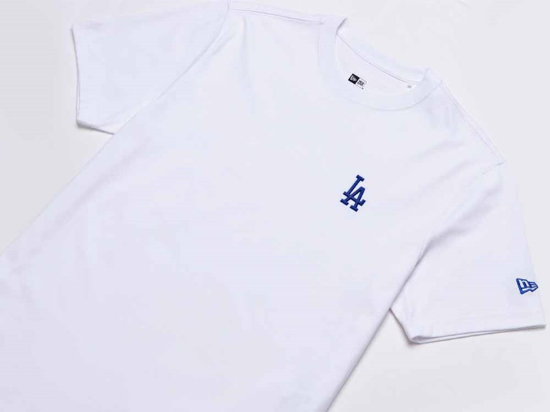 Los Angeles Dodgers MLB Rubber Logo White Short Sleeves Shirt