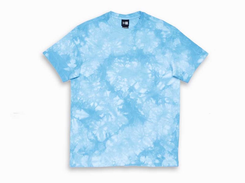 New Era Color Tie Dye Cloud Dying Blue Short Sleeve Shirt