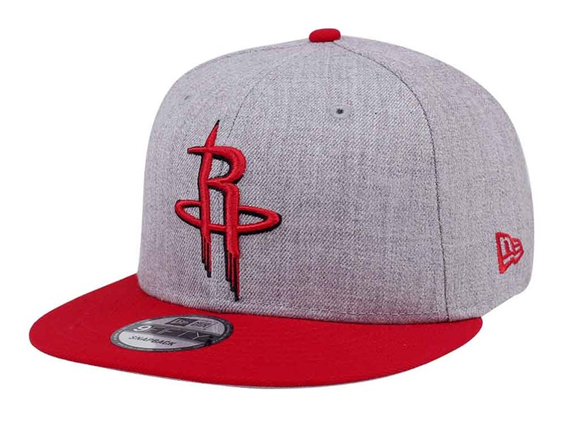 Houston Rockets NBA Two Tone Heather Gray Red 9FIFTY Cap
