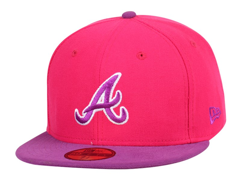 Atlanta Braves MLB Grape 59FIFTY Cap