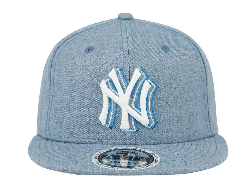 fabf91d9976a44 ... official store new york yankees mlb motion typo heather light blue  9fifty cap 36f5a aa723