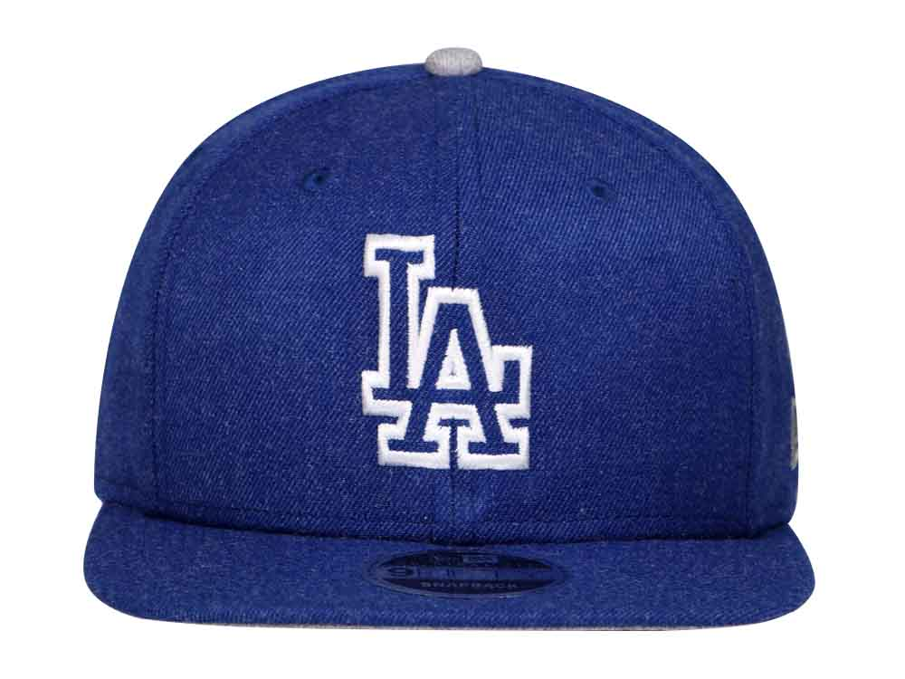 Los Angeles Dodgers MLB Heather Hype Snap Blue 9FIFTY Cap  dc40ed11f5a0