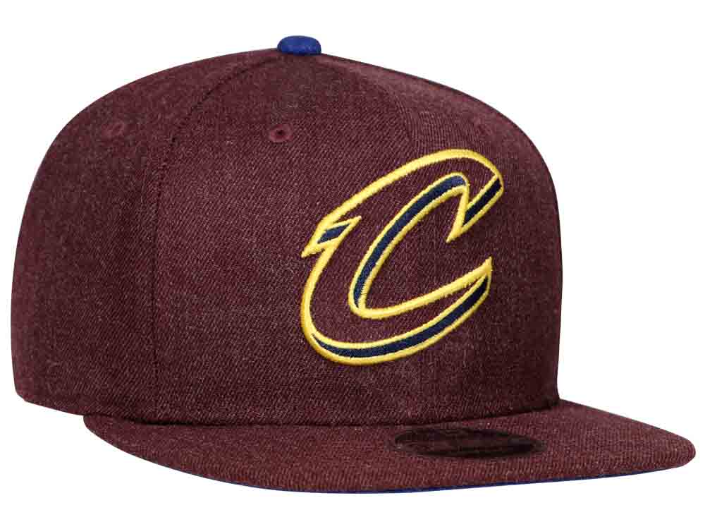 79616a12044 Cleveland Cavaliers NBA Heather Hype Snap Maroon 9FIFTY Cap