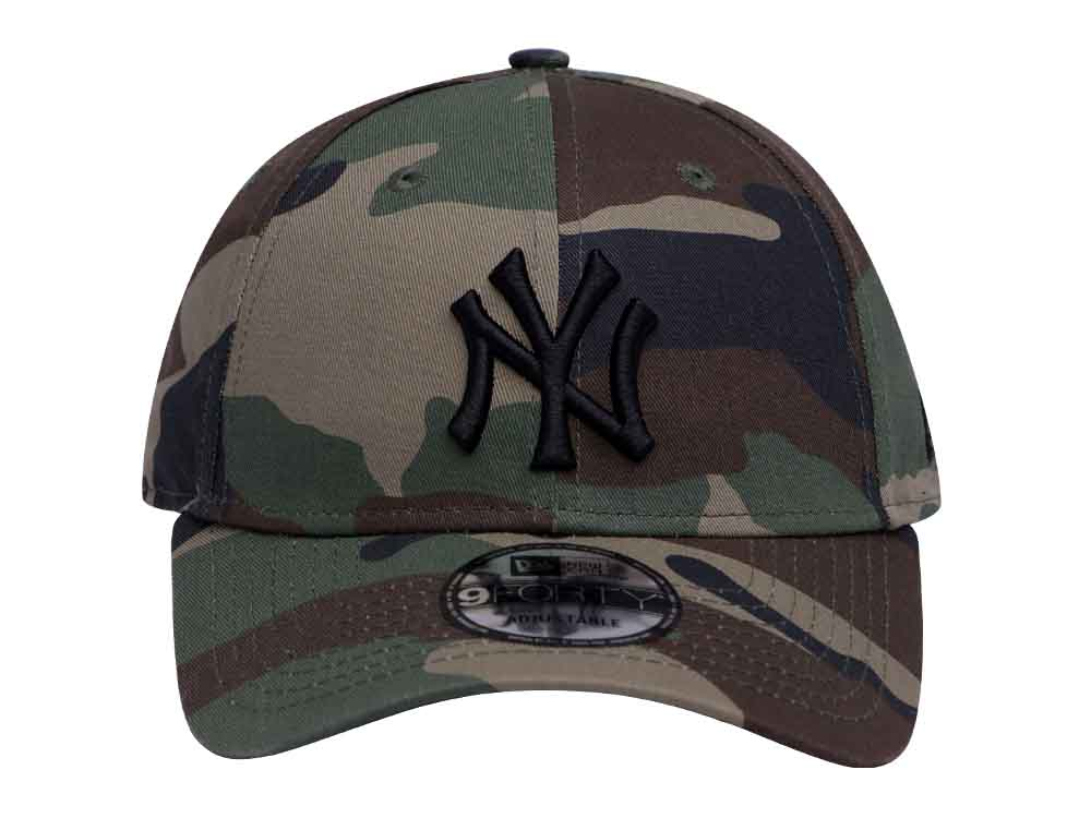 23aef373521 New York Yankees MLB League Essential Camo 9FORTY Cap