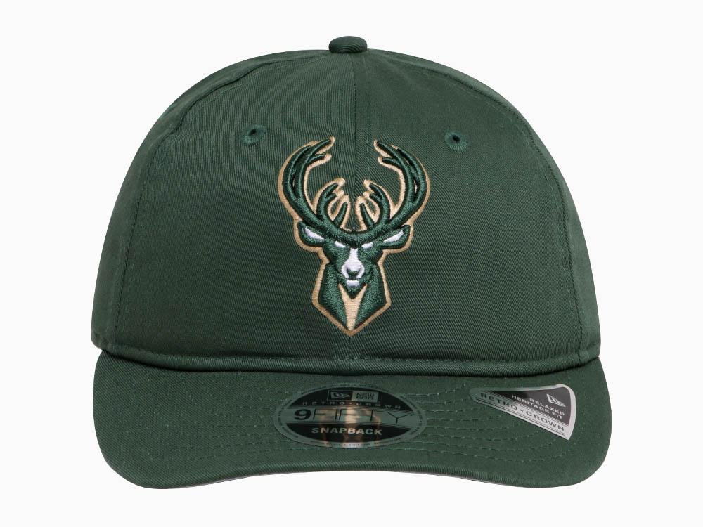 sale retailer 49193 ead34 Milwaukee Bucks NBA Team Choice Retro Green 9FIFTY Cap