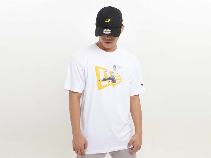 New Era Bruce Lee Short Sleeve White Shirt
