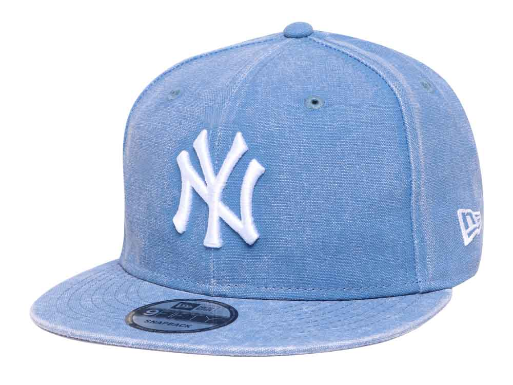 New York Yankees MLB Italian Wash Duck Canvas Light Blue 9FIFTY Cap ... 193227e095d