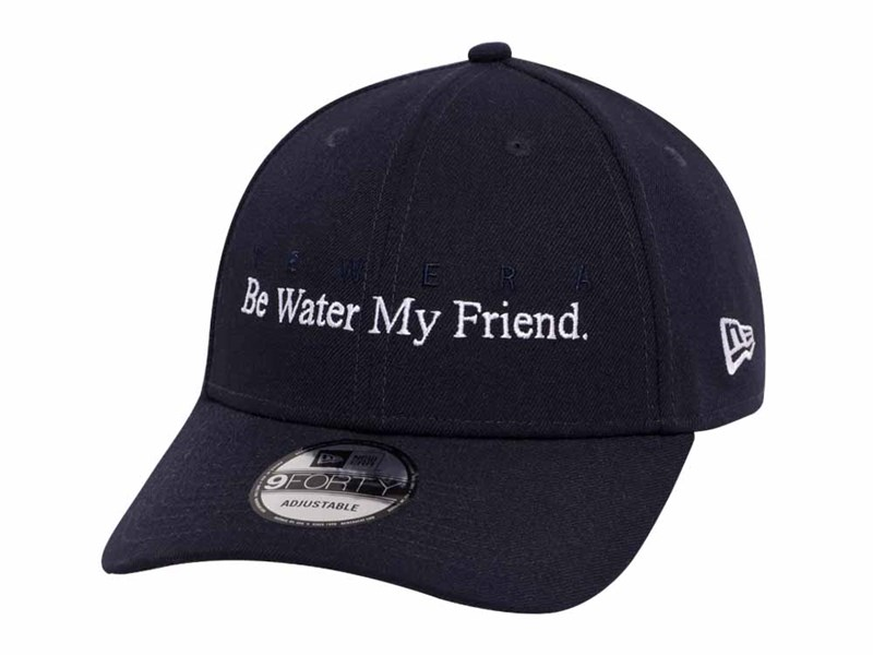Be Water My Friend Bruce Lee Navy 9FORTY Cap