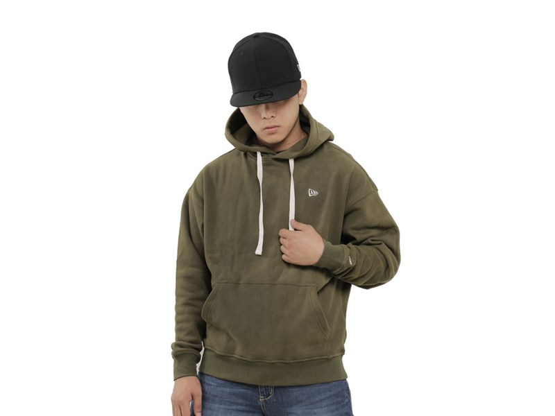 New Era Essential Fleece Military Green Hoodie