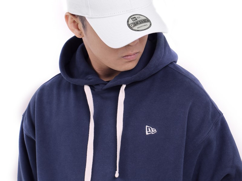 New Era Essential Fleece Navy Hoodie