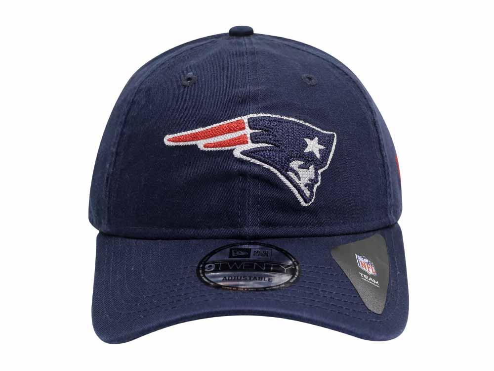 044f5a7f0 New England Patriots NFL Logo Stitcher Dark Blue 9TWENTY Cap