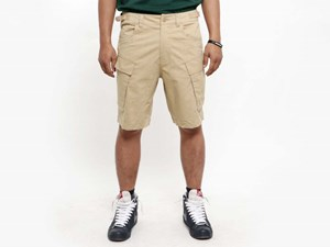 New Era Originators Beige Cargo Shorts